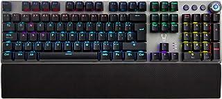 Woxter Stinger RX 1000 Kr - Teclado gaming mecánico, Estructura de aluminio, Micro Switch KRGD, retroiluminado, Anti-Ghosting, cable de nylon, compatible PC/PS4/Fortnite/Apex Legends