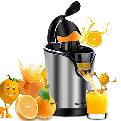 Electric Citrus Juicer Sowtech 2 in 1 Stainless Steel Squeezer Anti-drip Citrus Press for