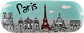 Les Trésors De Lily [Q8327 - Etui à lunettes créateur 'Paris' turquoise - 16x6x3 cm