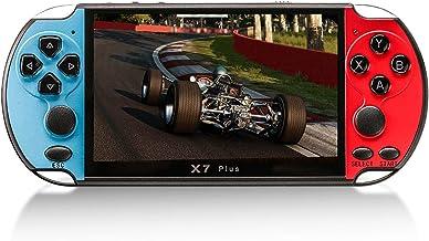 Console de videogame X7 Plus de 5.1 polegadas Players de videogame portáteis Rocker Memória de 8 GB integrada Controlador ...