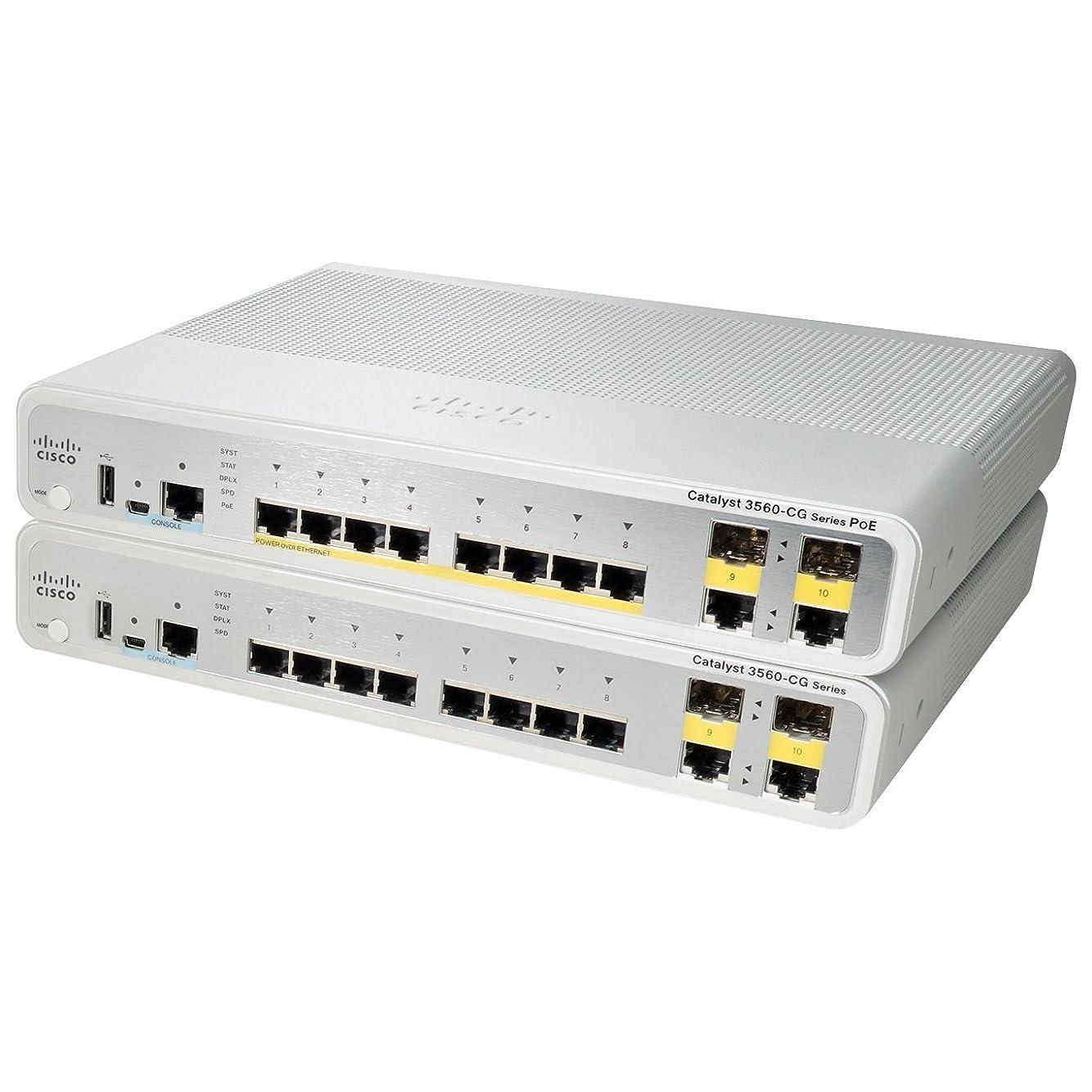 事前セーブ弾丸Cisco Systems 【保守購入必須】Catalyst 3560-C 8 GE、2×デュアルパーパス アップリンク、IPBase WS-C3560CG-8TC-S