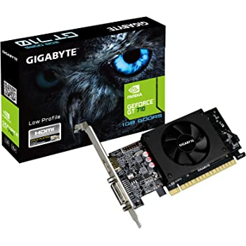 Gigabyte GeForce GT 710 1GB Graphic Cards and Support PCI Express 2.0 X8 Bus Interface. Graphic Cards GV-N710D5-1GL REV2.0