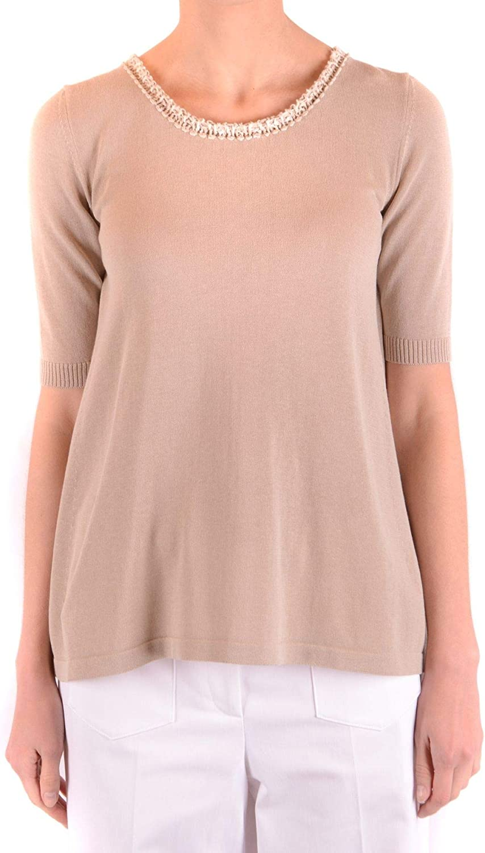 Dexterior Women's MCBI36742 Beige Cotton TShirt