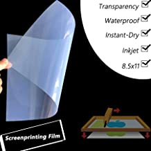 Waterproof Inkjet Transparency Positive Film for Silk Screen Printing,It is Ideal for EPSON HP Canon Printers