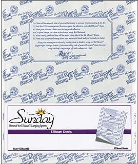 Crafter's Companion EZMOUNT02-4 Sheet Bundle - EZMount Static Cling Mounting Foam 8.5