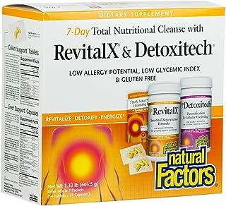 Natural Factors, RevitalX & Detoxitech Bundle, 7-Day Cleansing Program, Digestive Aid for Gastrointestinal Health, 1 lb (1...