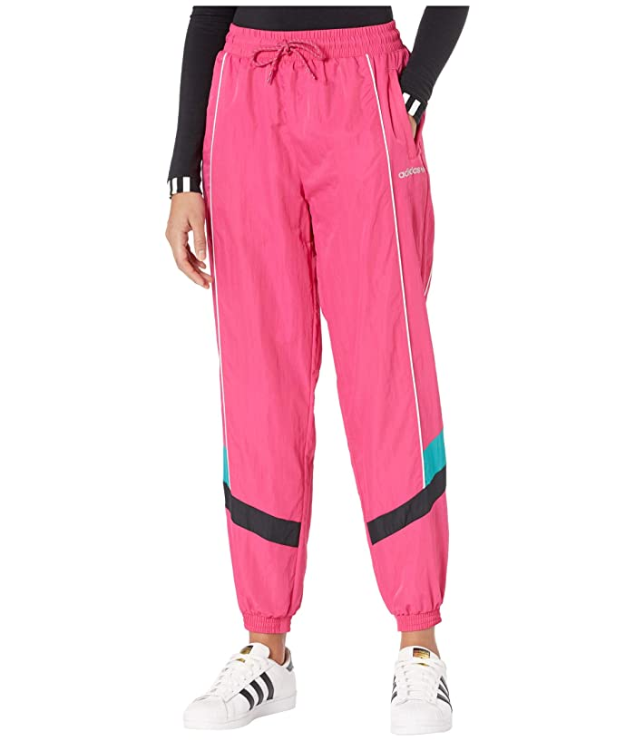 1980s Clothing, Fashion | 80s Style Clothes adidas Originals Cuffed Tech Pants Real Magenta Womens Casual Pants $36.67 AT vintagedancer.com