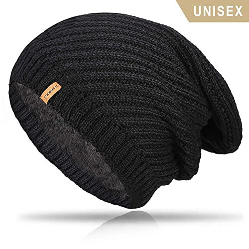 e9627c1034c04b TRENDOUX Beanie Hat Winter Warm Knit Hats Cold Weather Skull Cap for Men  Women