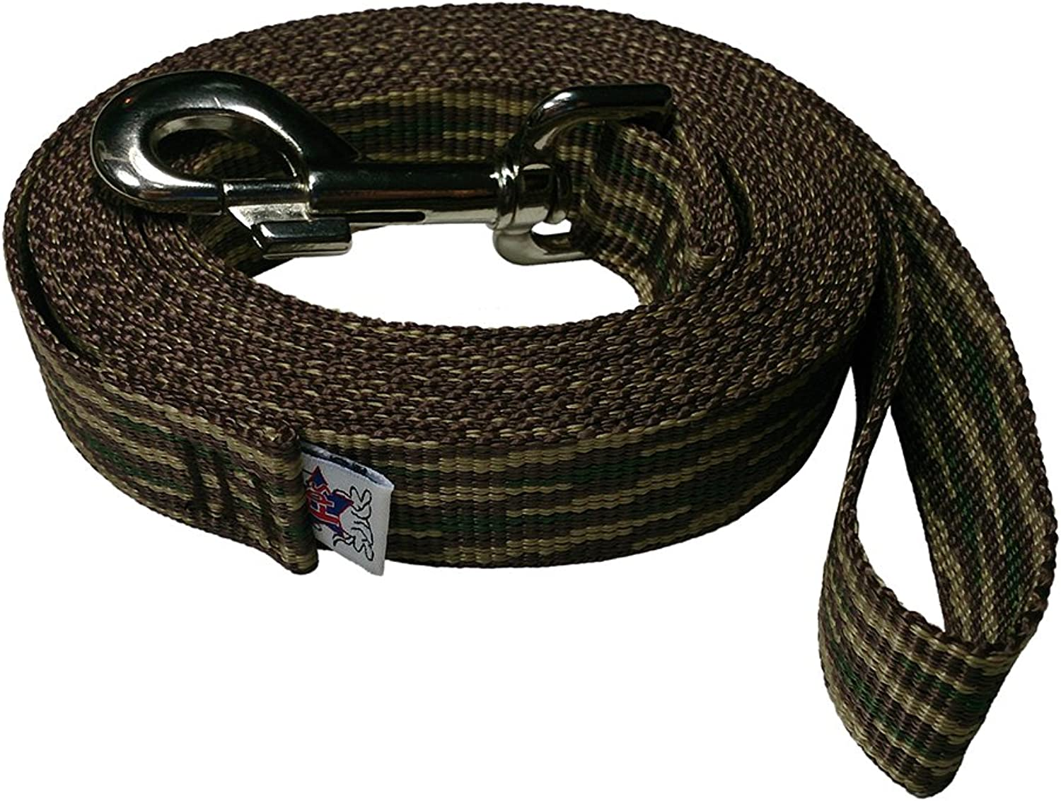 BeastMaster Freedom Pet 1 inch Polypropylene Dog Leash FPSPP50 Select Your Length and color (Woodland Camouflage, 25 FT)