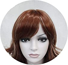 Medium Length Wavy Dark Brown Full Synthetic Wig Women's Wigs,131 Ht 13,16inches