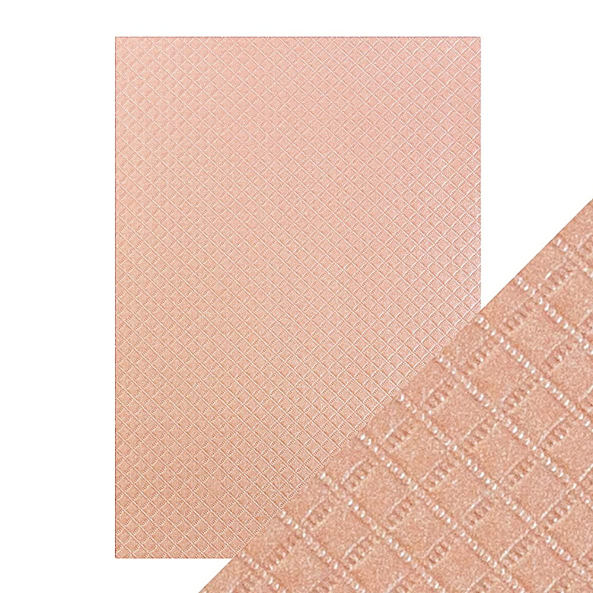 Tonic Studios Craft Perfect A4 Luxury Embossed Card, Cardstock, Salmon