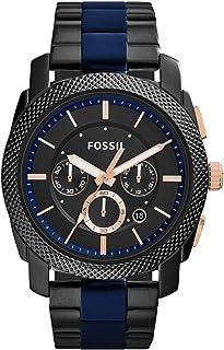 ساعة ماشين بشاشة انالوج وإسورة من الستانلس ستيل للرجال من فوسيل - FS5164