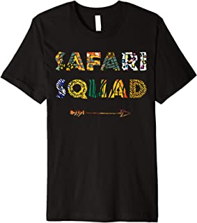 Safari Squad African Family Vacation Summer Vacay Trip Zebra Premium T-Shirt