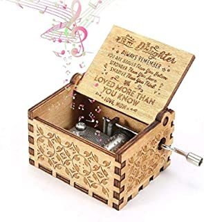 Berry USA You are My Sunshine Wood Music Boxes,Laser Engraved Vintage Wooden Sunshine Musical Box Gifts for Birthday/Christmas/Valentine's Day (Mom to Daughter)
