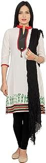 Rama Women's Cotton Designer Printed Kurta and Black Legging & Dupatta (Suit Set)