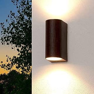 LED Außen Wand Leuchte Edelstahl Up /& Down Beleuchtung IP44 Lampe Garten Hof Weg