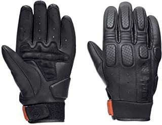 Harley-Davidson Mens Geyser Perforated Touchscreen Compatible Black Leather Full Finger (X-Large)