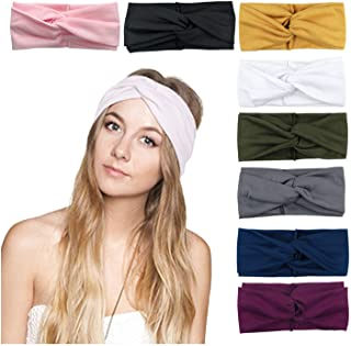 8 Pack Women's Headbands Headwraps Hair Bands Bows Hair...
