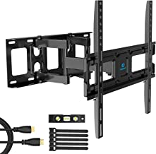 TV Wall Mount Bracket Full Motion Dual Swivel Articulating Arms Extension Tilt Rotation, Fits Most 26-55 Inch LED, LCD, OLED Flat&Curved TVs, Max VESA 400x400mm and Holds