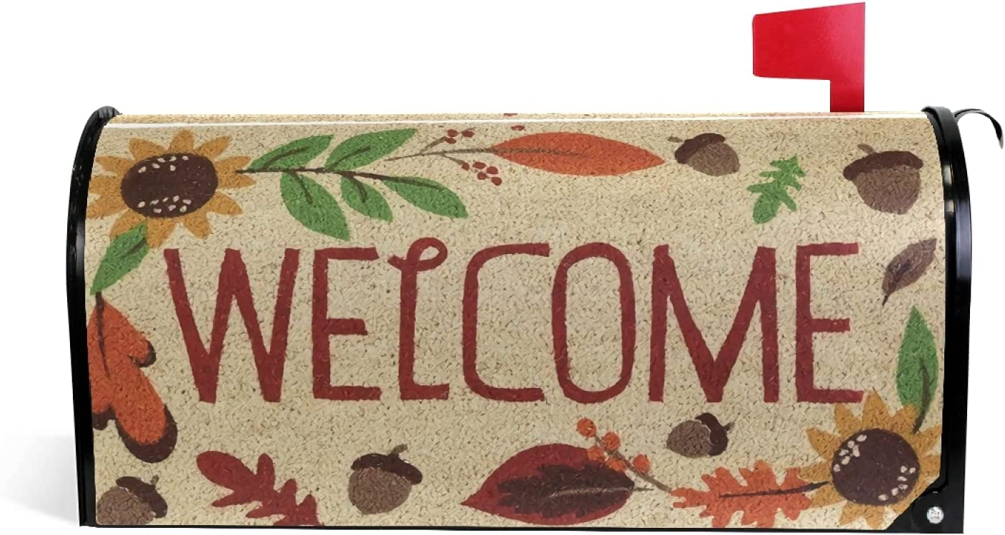 GRTARANY Max 50% OFF Welcome Autumn Manufacturer OFFicial shop Fall Magnetic MailWraps Po Mailbox Cover