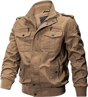 ReFire Gear Men's Cotton Military Jacket Lightweight Fall Casual Field Windbreaker Bomber Coat