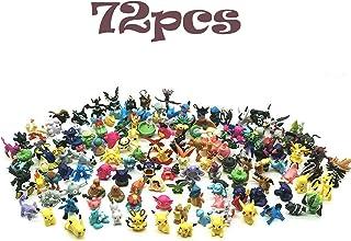 JIM - 72 pcs pokémon Figuras,Figura de Pokemon Adecuado para Fiestas, Regalos, fanáticos de Pokémon