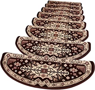JIAJUAN Stair Carpet Treads Non Slip Adhesive Mat Large Stair Step Rug, 3 Colors, 4 Sizes, Customize (Color : Brown-1 pcs,...