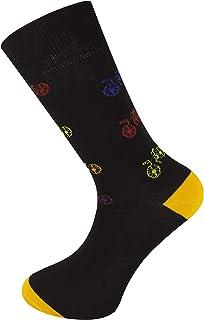 Calcetines de diseño de tobillo unisex Bicicleta negra
