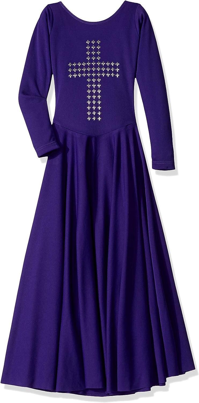 Clementine Praise & Liturgical Girls' CLPEU11029CSPurple Special Occasion Dress, Purple, Small
