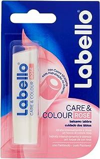 Labello Care & Colour Rosè, Balsamo Labbra per Labbra Morbide e Idratante