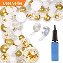 Balloon Garland Kit, 190 Pc Set - Silver, Gold and White Balloon Arch Kit for Baby Showers, Wedding & Graduation Parties/Ultimate Balloon Garland Arch Kit for Party Decorations