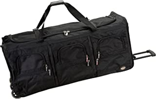 Rolling Duffel Bag, Black, 40-Inch