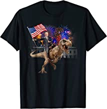 Trump Riding a Dinosaur T-rex T-shirt Suppor Trump 2020