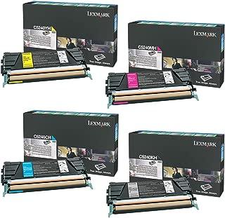 Lexmark C5240KH, C5240CH, C5240MH, C5240YH High Yield Toner Cartridge Set