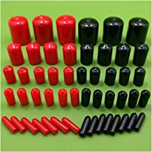 Expansiebuis 100 st rubberen dop schroef eind dop cover plastic buis hub draadbeschermer push-fit caps voor pijp ronde zwa...