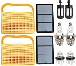 Venseri Air Filter + Pre Cleaner with Priber Bulb Fuel Filter Spark Plug for BR320 STIHL TS410 TS420 Lawn Mower Replace 4238-140-1800 4238 140 4401 42381410300B