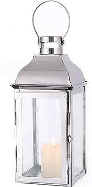 JHY DESIGN Lanternes à bougie décoratives 31.5cm Style Vintage lanterne bougie grande lanterne exterieur lanterne decorative