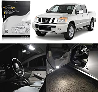 Partsam LED Interior Package Light Kits Replacement for Nissan Titan 2004-2012 -10 Pieces/White