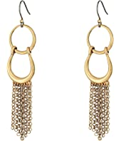 Lucky Brand - Front Facing Hoop with Fringe Earrings