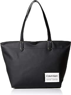 Calvin Klein Women's Celia Nylon Tote, Black, One Size
