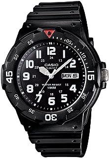 Casio MRW-200H-1BVCF Reloj Análogo para Hombre, Negro