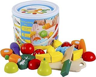 comprar comparacion omyzam Juguetes de Madera Comida de Juguete para Niños Frutas y Verduras Juguete Montessori para Cortar Madera Juguete Jue...