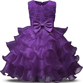 Flower Girl Wedding Gown Dress for Baby Clothing 1 2 Years Old Toddler Infant Party Dress Girl Newborn Bebes Baptism Clothes