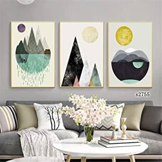 Wall Art Modern Painting Nordic Minimalism Poster Canvas 3 Pieces Art Gift Home Print Decoration Framed Picture for Living...