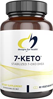 Designs for Health 7-Keto - 100mg 7-OXO DHEA Supplement for Men + Women - Designed to Support Fat Metabolism - Non-GMO + G...