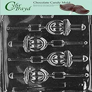 Cybrtrayd Life of the Party B036 Pacifier Lolly Chocolate Candy Mold in Sealed Protective Poly Bag Imprinted with Copyrighted Cybrtrayd Molding Instructions
