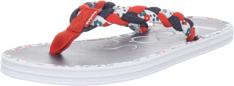 Keds Women's Flippie Braid Flip Flop,Red,10 M US