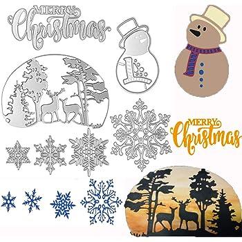 Christmas Snowman Cutting Dies Stencils Scrapbooking Paper Craft Unique MA