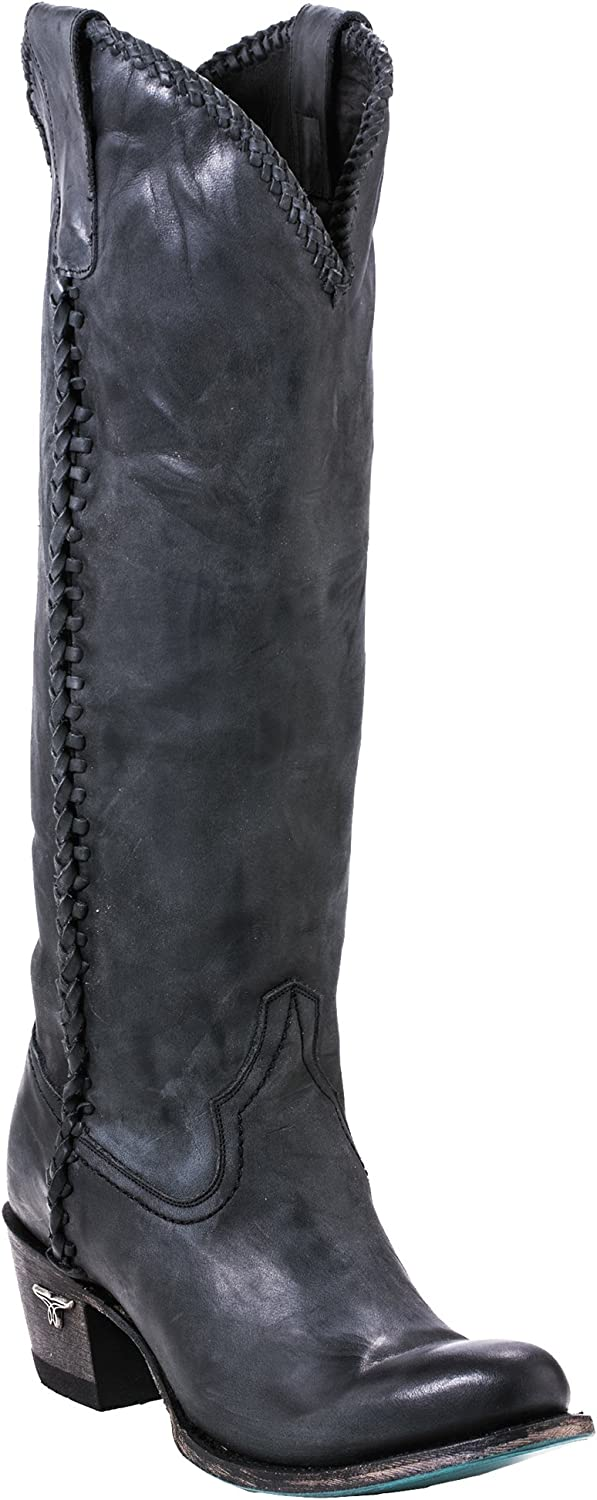 Lane Selling Plain Jane Womens HIgh Knee Animer and price revision Boot Western