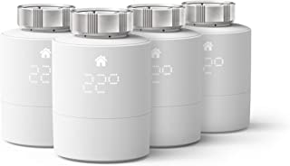 tado° - Termostato inteligente para radiadores (montaje horizontal), pack de 4, accesorios para controlar varias habitacio...